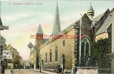 PRINTED POSTCARD OF ST. MICHAEL'S CHURCH, LEWES, SUSSEX BY BOOTS CASH CHEMIST