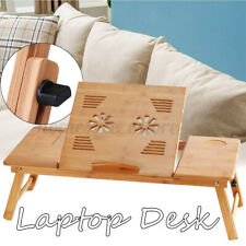 Portable Folding Lap Desk Bamboo Laptop Tray Bed Notebook Table Stand Adjustable