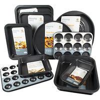 10 Piece Non Stick Carbon Steel Baking Cookware Bakeware Tin Oven Pan Trays Set