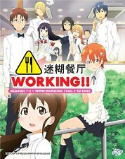 DVD Japan Anime WORKING!! (Wagnaria) Season 1-3 + www.working (1-52) English Sub
