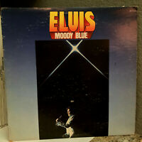 "ELVIS PRESLEY - Moody Blue (Blue Vinyl)(1977 Pressing)- 12"" Vinyl Record LP - EX"