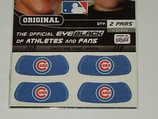 CHICAGO CUBS EYE BLACKS WORLD SERIES TWO PAIRS 4 STRIPS MADE USA AUTHENTIC MLB