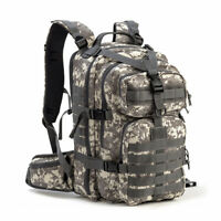 35L Military Tactical Backpack Army Molle Pack Bug Out Bag Hiking Gear Camo New