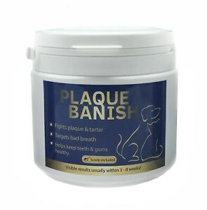 PLAQUE BANISH 350G Plaque Off For Dogs Teeth Clears Plaque, Tartar & Bad Breath