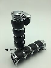 "1"" Motorcycle Handlebar Hand Grips For Custom Harley Davidson Road King Softail"