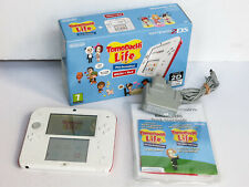 Boxed Nintendo 2DS Console Tomodachi Life White / Red + Charger