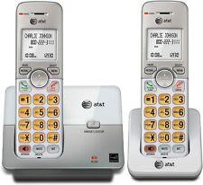 2 Cordless Phone Set Handset Caller Id Call Wait Landline Mobile Telephones Home