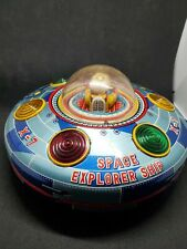VINTAGE TIN TOY JAPAN BATTERY OPERATED X-7 SPACE EXPLORER SHIP