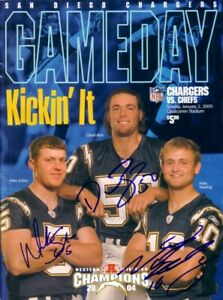 Nate Kaeding David Binn Mike Scifres autographed signed SD Chargers 2005 program