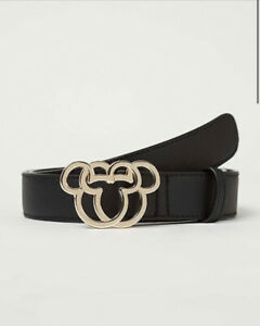George Bnwt Disney Mickey Mouse Black Belt Size M 12/14
