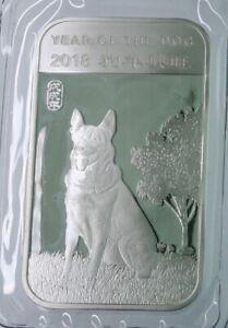 2018 Year of the dog 1 OZ .9999 fine silver Proof-like bar-BU sealed