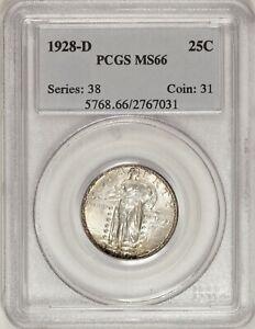 1928-D Standing Liberty Quarter PCGS MS66 Gem in an Old Holder! #CAR0