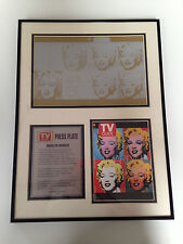 Marilyn Monroe TV Guide Press Plate Framed