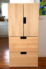 IKEA-STUVA/FÖLJA Wardrobe - Storage combination with doors/drawers, white, birch