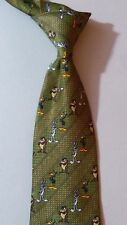 NEW LOONEY TUNES Necktie Green Stripes with BUGS DAFFY & TAZ NWOT