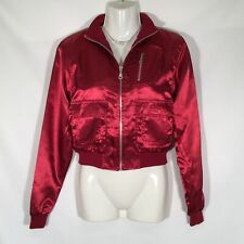 Passport Vintage Red Zipper Jacket Womens Size Small