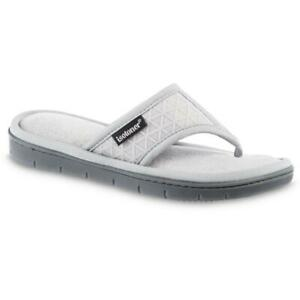 ISOTONER moisture wicking MIA thong women's slippers with Memory Foam 6.5-7