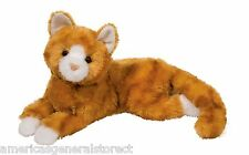 "MARMALADE plush 11"" ORANGE STRIPED stuffed animal CAT Douglas Cuddle kitty tabby"
