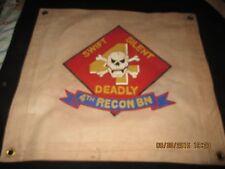 USMC US MARINES 4 TH RECON BTTN SWIFT SILENT DEADLY SKULL BARRACK - BAR   FLAG