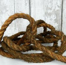 More details for reclaimed old natural vintage hessian rope garage ship nautical maritime 4.5m
