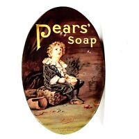 """Vintage """"Bubbles"""" Pears Soap Tin A.& F. Pears Limited London England Oval Box"""