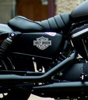 Harley Davidson Stickers Decals Motorcycle Fuel Tank Self Adhesive x 2