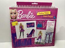 Barbie Fashion Design Sketch Portfolio Book With Stickers And Stencils - New