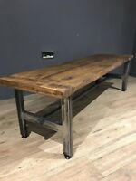 Reclaimed Wood Coffee Table / Industrial Chic Coffee Table / Steam Punk /