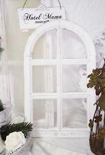 Ventana Decoración Marcos de Rundbogenfenster Brocante Madera Blanco Shabby Chic