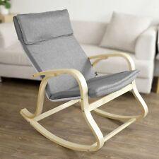 SoBuy® Wooden Rocking Chair Reclining Relax Armchair Grey, FST15-DG ,Grey, UK