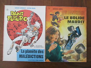 LES PANTHERES/DANI FUTURO LOT DE 2 BELLES EDITIONS ORIGINALES  1975