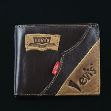 FM-404 Men's 2017 money BIFOLD Genuine Leather wallet purse + Gift Box Free P&P