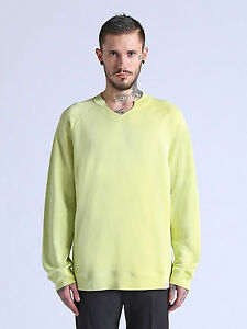 Diesel S-Emile Sweatshirt (Small) Yellow/Green New With Tags - $149