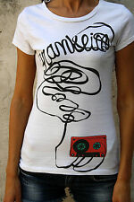 Franklin Marshall Blanc Cassette 80 S Design T Shirt Coton Made In Italy M