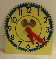 Judy clock vintage learn to tell time analog face adjust arms classroom
