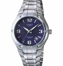 Casio Men's Edifice Stainless Steel Watch, Blue Dial, 100 Meter WR, EF106D-2AV