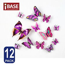 3d Butterfly DIY Wall Decal Removable Sticker Wedding Nursery Self-adhesive Purp