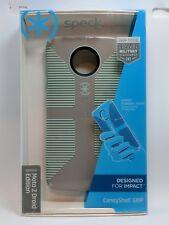 Speck CandyShell Grip Case for Motorola Moto Z Droid Edition - Gray/Aloe Green