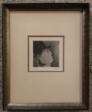 Etching of a Man in Profile wearing a Top Hat by R Hovet - Signed