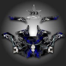 Polaris RZR 900 XP UTV Wrap Graphics Decal Kit 2011-2014 Skull Rider Blue