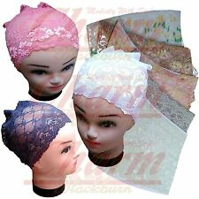 CHEMO HIJAB UNDER SCARF CAP UNDERCAP UNDERSCARF NET LACE TUBE HAIR LOSS BONNET