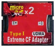 M-Ware ® Dual 2x Micro SDHC SDXC UDMA CF Type I Canon Nikon DSLR Caméra id13595