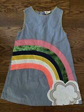 Mini Boden Girls Rainbow Sequin Dress Size 4-5Y Sleeveless EUC!