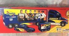 NIB  Sunoco 2004 Race Car Hauler Nascar W/ Car & Pit Wagon NEW 11th in Series