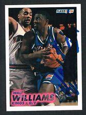 Walt Williams #187 signed autograph auto 1993-94 Fleer Basketball Trading Card