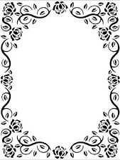 "Sue Wilson Embossing Folder 5 3/4 x7 1/2"" ORNATE ROSE FRAME EF-085 Creative"