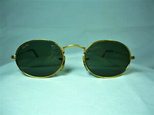 Ray Ban sunglasses round oval panto gold plated, men's, women's, frames, vintage