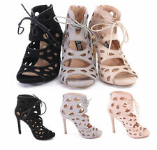 Stiletto Peep Toes Faux Suede Formal Heels for Women