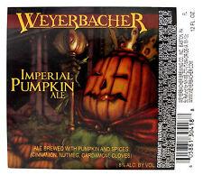 Weyerbacher Brewing IMPERIAL PUMPKIN ALE beer label PA 12oz