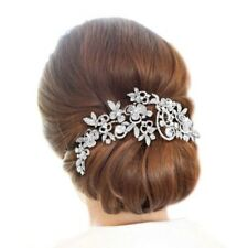Silver Rhinestone Tiara Headpiece Wedding Accessories Headband Hair Comb Clip
